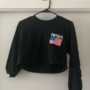 NASA Pacsun Long Sleeve Crop top